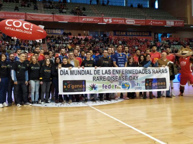 D´Genes cierra su campaña de visibilidad en eventos deportivos por el Día Mundial de las Enfermedades Raras con su presencia en el partido UCAM Murcia CB-Morabanc Andorra - 2, Foto 2