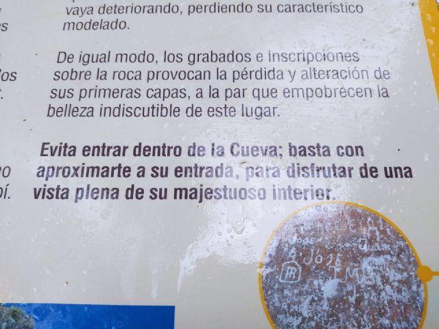 Ciudadanos Yecla celebra que tal y como solicitaron, desde la Dirección General del Medio Natural, hayan realizado las mejoras de la Cueva de la Horadada y señalización del Arabí - 5, Foto 5