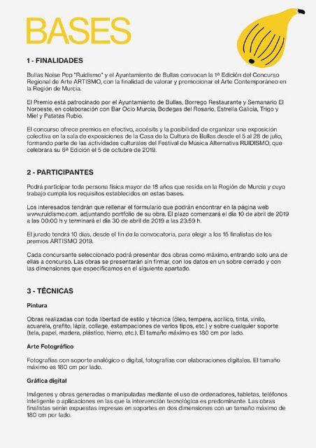 El Ayuntamiento de Bullas y el Festival Ruidismo crean el concurso de arte 'Artismo' - 2, Foto 2