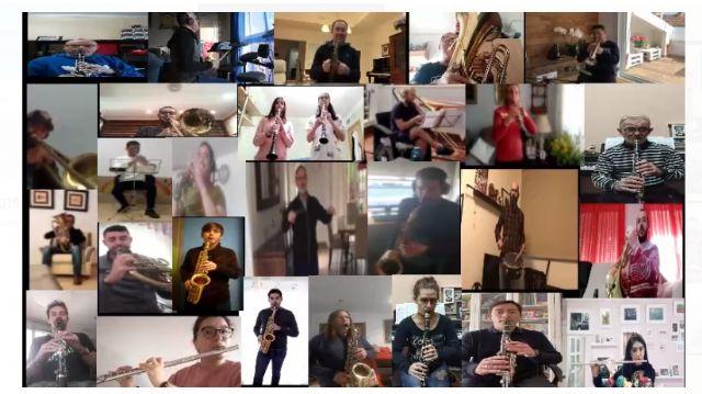 La Banda Municipal de Música de Lorca ameniza esta Semana Santa atípica grabando un vídeo coral de los himnos azul y blanco - 1, Foto 1