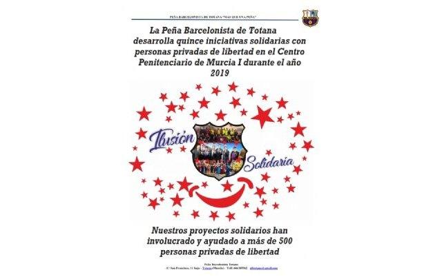 La Peña Barcelonista de Totana desarrolla 15 iniciativas solidarias en el Centro Penitenciario Murcia I en el año 2019 - 2, Foto 2