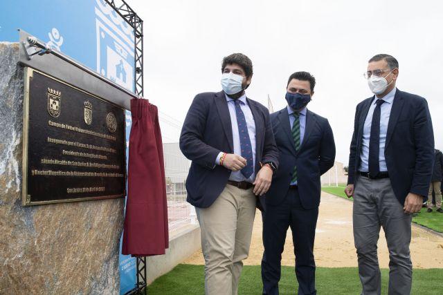 López Miras inaugura el campo de fútbol del futuro complejo deportivo de la Facultad de Ciencias del Deporte de la UMU - 2, Foto 2