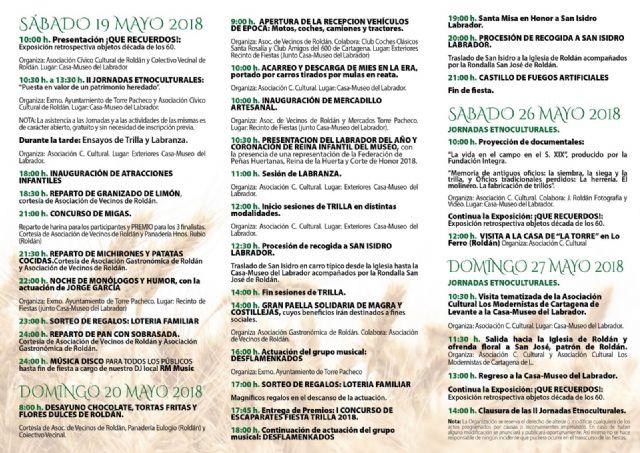 La Fiesta de la Trilla en su 5ª edición se celebrará en Roldán el sábado 19 y domingo 20 de mayo - 3, Foto 3