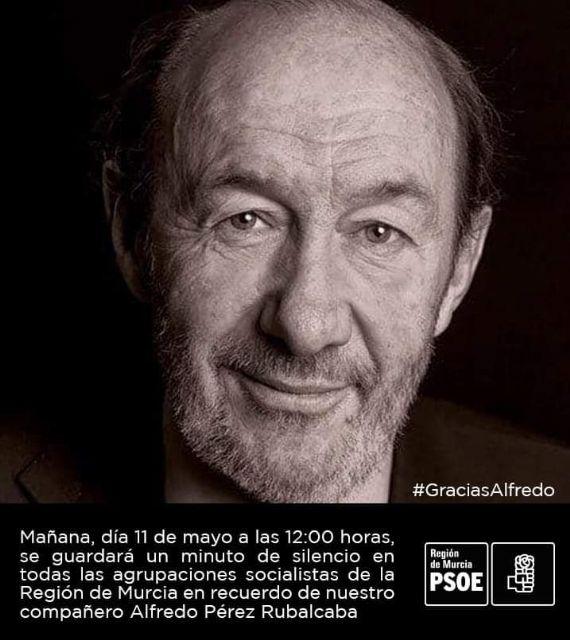 Los socialistas totaneros realizarán mañana un homenaje de despedida a Alfredo Pérez Rubalcaba