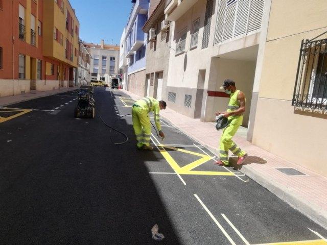Finalizan las obras de renovación de las redes de agua potable y alcantarillado en la calle Gregorio Cebrián