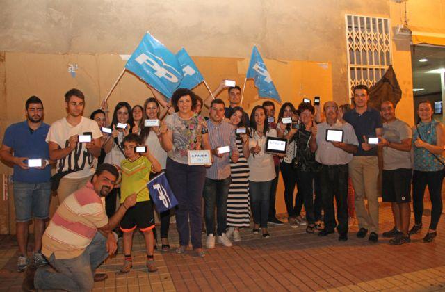 El Partido Popular de Puerto Lumbreras comienza la Campaña Electoral con una pegada digital de carteles - 1, Foto 1