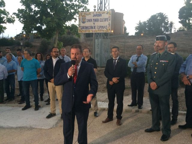 "Opened the new ""Garden Santa María Cleofé and Coronación de Espinas"", which gives its name to the park located next to the house-headquarters of this brotherhood of Holy Week - 2"