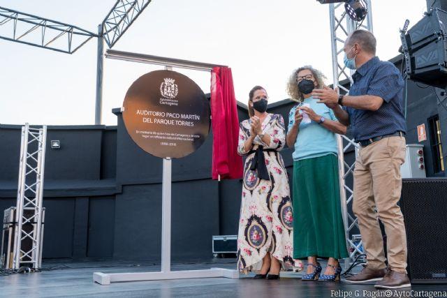 La alcaldesa de Cartagena da la bienvenida al Auditorio Paco Martín del Parque Torres - 1, Foto 1