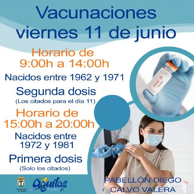 Mañana recibirán la primera dosis de la vacuna contra el COVID los nacidos entre 1981 y 1972 citados - 1, Foto 1