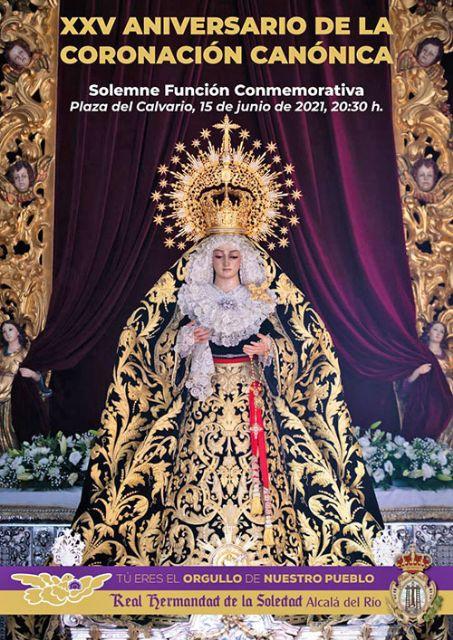 La Virgen de la Soledad saldrá a la Plaza del Calvario de Alcalá del Río para presidir la Función del XXV Aniversario de su coronación Canónica - 1, Foto 1