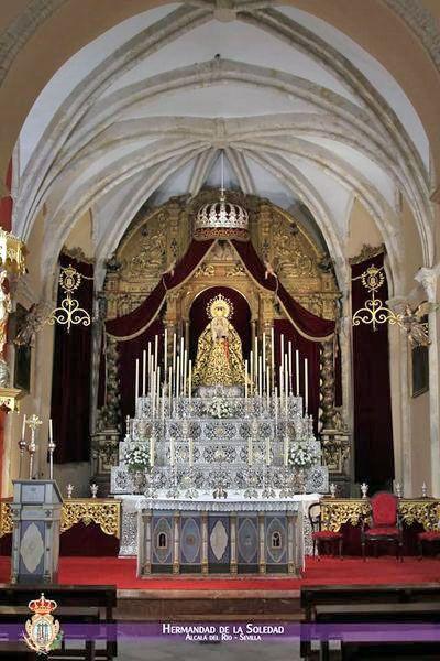 La Virgen de la Soledad saldrá a la Plaza del Calvario de Alcalá del Río para presidir la Función del XXV Aniversario de su coronación Canónica - 2, Foto 2