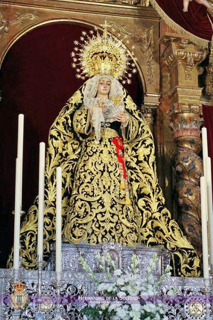 La Virgen de la Soledad saldrá a la Plaza del Calvario de Alcalá del Río para presidir la Función del XXV Aniversario de su coronación Canónica - 4, Foto 4