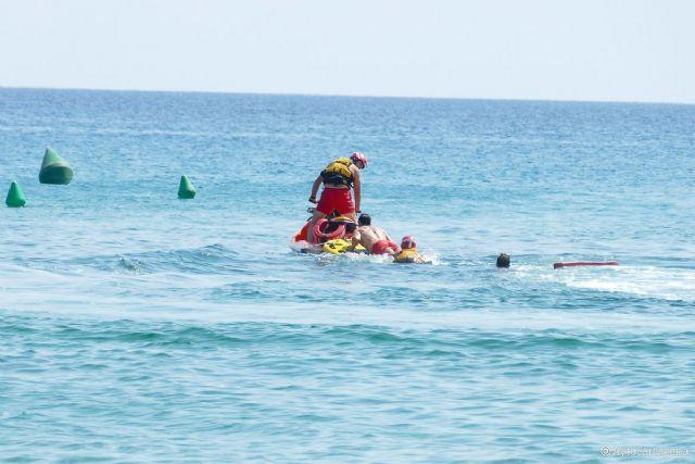 Un simulacro en La Manga del Mar Menor contribuirá a evitar ahogamientos este verano - 1, Foto 1
