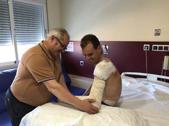 Luis León, del Astana, operado con éxito en el Hospital de Molina - 2, Foto 2