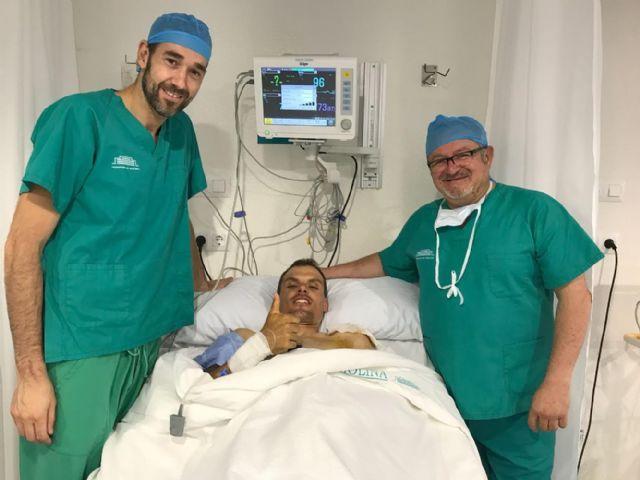 Luis León, del Astana, operado con éxito en el Hospital de Molina - 4, Foto 4