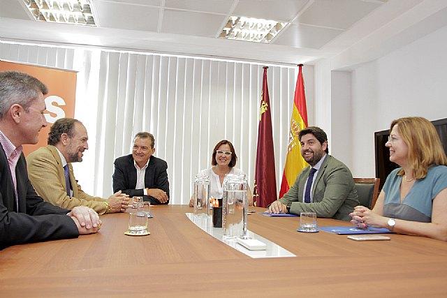 Ciudadanos lidera el desbloqueo de una investidura viable de Fernando López Miras en Murcia, Foto 1