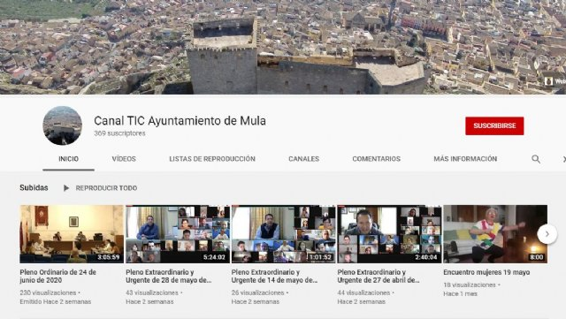 Ublicadas las video-actas de los históricos plenos realizados durante el estado de alarma - 1, Foto 1