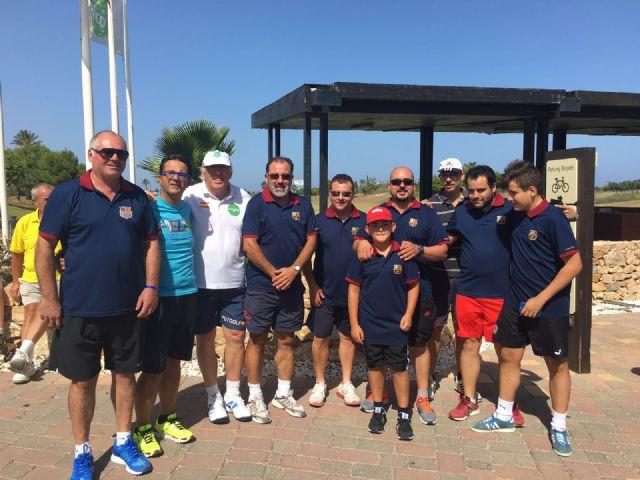 La Peña Totana Barcelonista part in the tournament organized Futgolf Juan Manuel Asensi