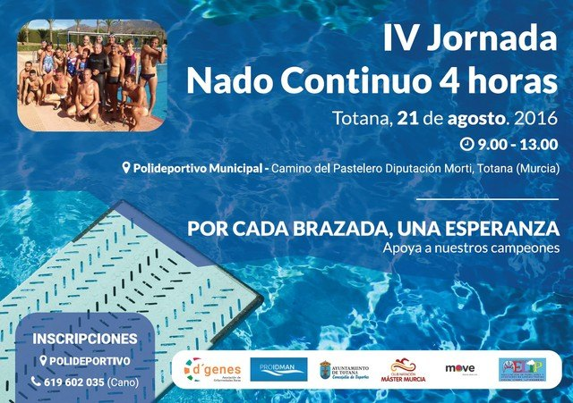 """The Polideportivo Municipal """"December 6"""" will host on August 21 the Fourth Conference of continuous swim"""