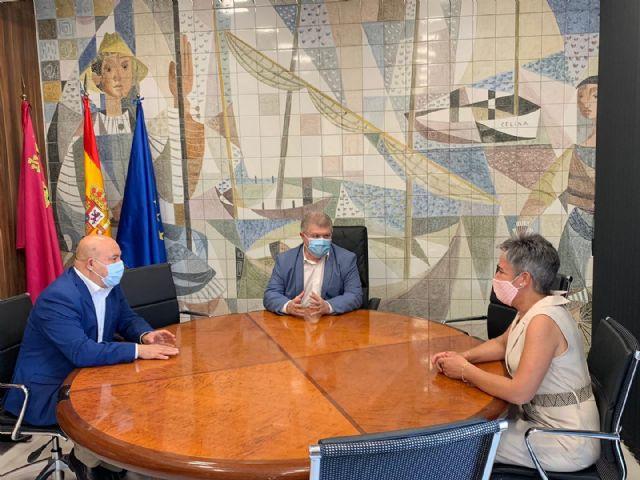 José Vélez, recibió a la alcaldesa de Calasparra, Teresa García y al alcalde de Cieza, Pascual Lucas - 1, Foto 1