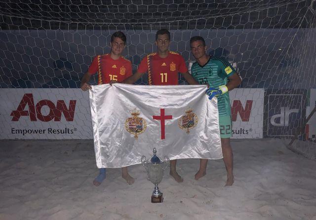 Tres mazarroneros subcampeones de la Euro Beach Soccer League con la Selección Española, Foto 1