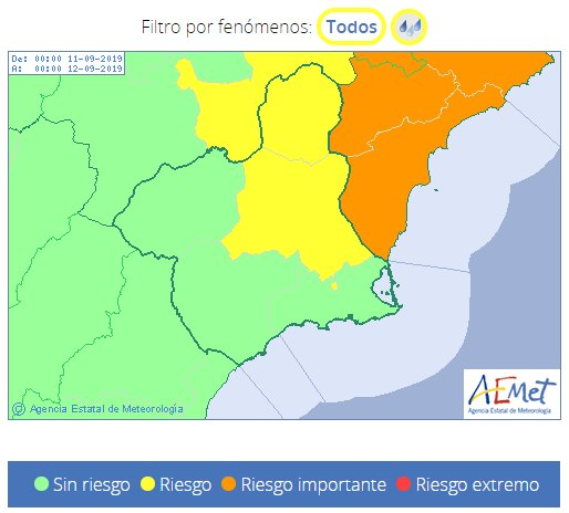 The forecasts indicate that we will have a strong storm of rain, wind and waves in the Mediterranean area - 2