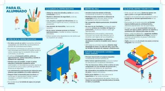 La edil de Educación hace un llamamiento a padres y alumnos sobre la importancia de seguir las medidas de prevención e higiene en la vuelta a las aulas - 2, Foto 2