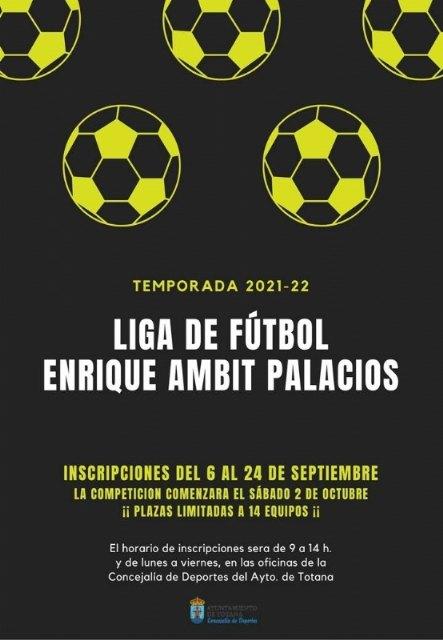Abierta hasta el 24 de septiembre la inscripción en la Liga de Fútbol Enrique Ambit Palacios, Foto 3