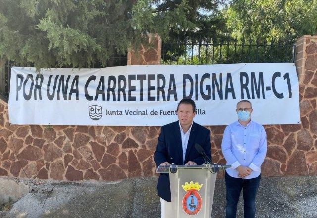 Mula reitera la necesidad de mejora de la carretera RM-C1 Fuente Librilla- Alcantarilla - 1, Foto 1