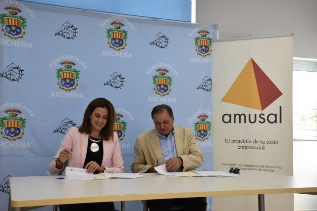 Convenio con Amusal para promocionar en Archena la economía social, fomentar el empleo y el desarrollo económico del municipio - 1, Foto 1