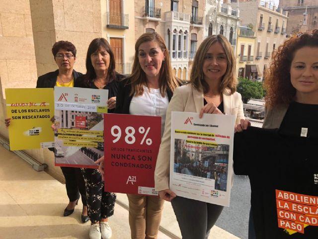 Murcia se adhiere por tercer año a la iniciativa Caminando por Libertad que recorrerá las calles de la ciudad el día 20 - 1, Foto 1