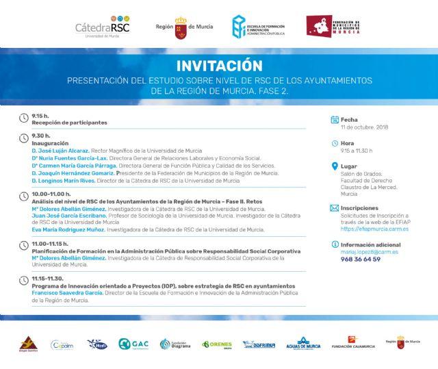 La UMU presenta el estudio sobre el nivel de Responsabilidad Social Corporativa de los Ayuntamientos de la Región - 1, Foto 1