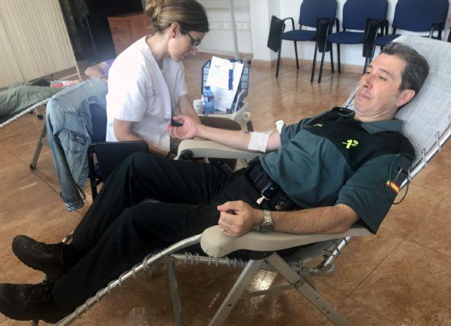 La Guardia Civil colabora altruistamente en la XVII campaña de donación de sangre en Murcia - 1, Foto 1