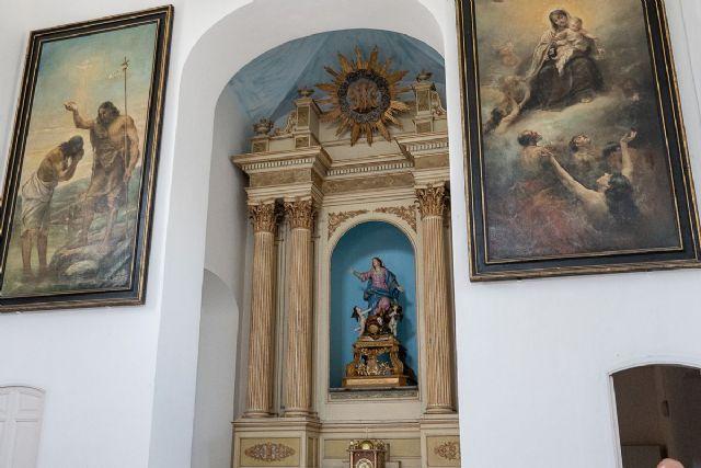 La iglesia del Cementerio de Los Remedios recupera toda su iconografía original - 1, Foto 1