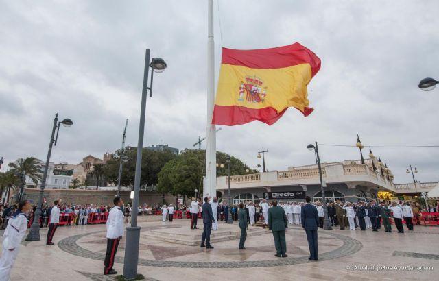 Cartagena inicia el viernes los actos del Día de la Fiesta Nacional con un homenaje a la bandera - 1, Foto 1