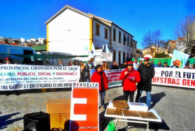 Los colectivos ferroviarios reclaman al Gobierno la inmediata adjudicación del Estudio Informativo del tren Lorca Almanzora Baza Guadix - 1, Foto 1