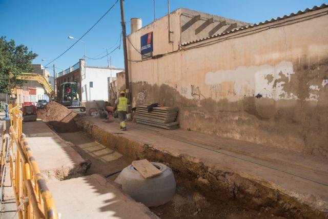 Ultiman las obras de mejora de la red de saneamiento en Mazarrón y Puerto, Foto 1