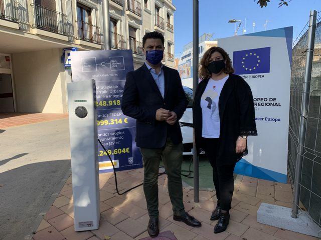 San Javier estrena los dos primeros puntos municipales de recarga  para vehículos eléctricos - 2, Foto 2