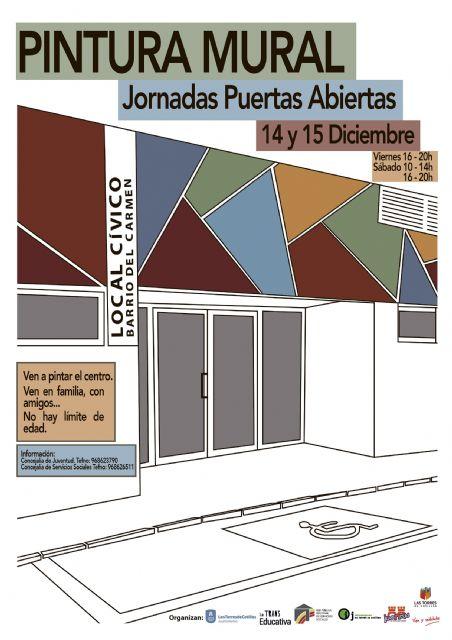 Todos a decorar el centro social del barrio del Carmen con un gran mural artístico - 1, Foto 1