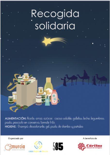 La Unión de estudiantes y el Consejo de la juventud de Murcia presentan una campaña de recogida de alimentos para esta navidad - 1, Foto 1