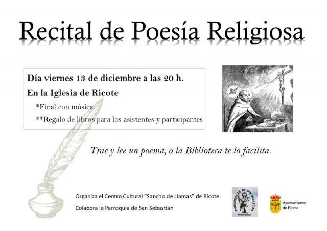 Recital de poesía religiosa en Ricote - 1, Foto 1