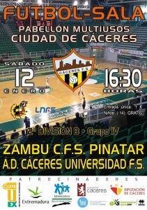 Zambú CFS Pinatar comienza el año defendiendo la cuarta plaza en Cáceres - 1, Foto 1