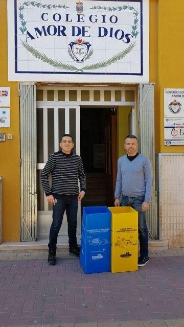Más papeleras para reciclar envases y cartón en los colegios de Bullas - 2, Foto 2