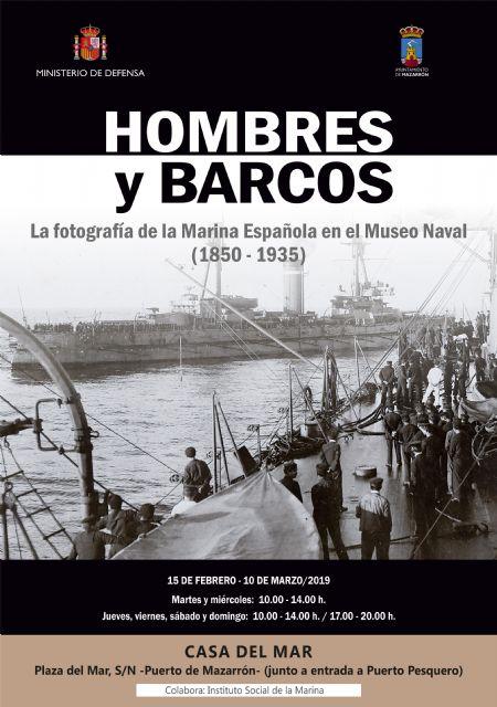 La exposición 'hombres y barcos' llega a  la casa del mar de puerto de Mazarrón, Foto 1