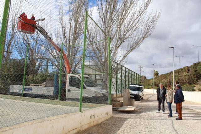 En marcha las obras del rocódromo y del cambio de iluminación del Polideportivo La Hoya - 4, Foto 4