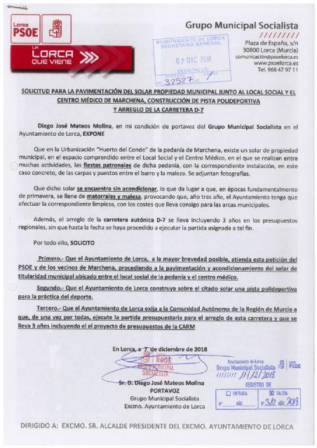 El PSOE felicita a la Asociación de Vecinos de Marchena tras lograr el asfaltado del entorno del local social y del centro de salud - 1, Foto 1