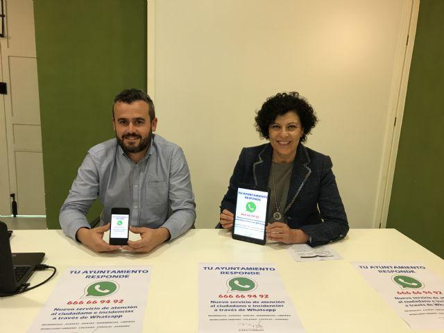 Los ciudadanos de Puerto Lumbreras podrán comunicar incidencias y averías a través de Whatsapp - 3, Foto 3