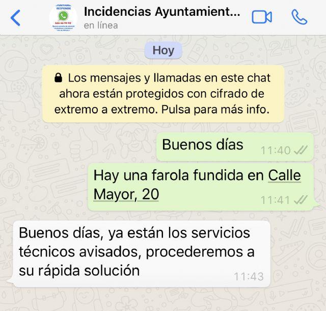 Los ciudadanos de Puerto Lumbreras podrán comunicar incidencias y averías a través de Whatsapp - 4, Foto 4