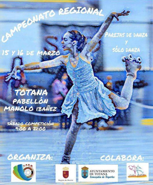 Totana acoge el Campeonato Regional de Patinaje los días 15 y 16 de marzo en el Pabellón de Deportes