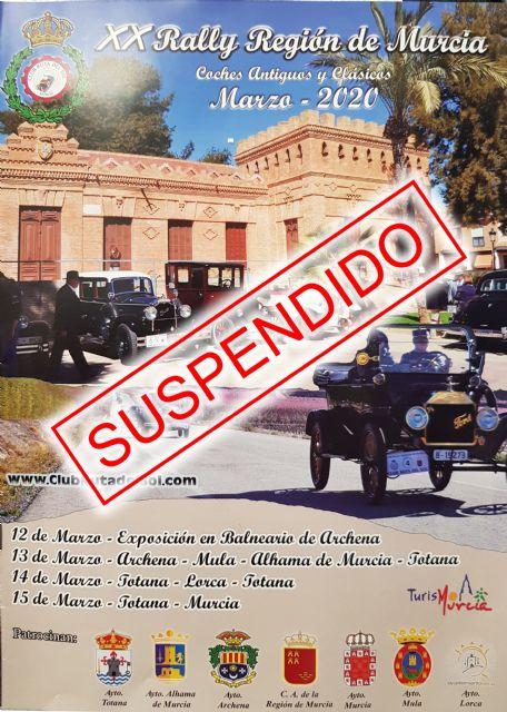 Se suspende el XX Rally Región de Murcia, previsto para este fin de semana, Foto 1